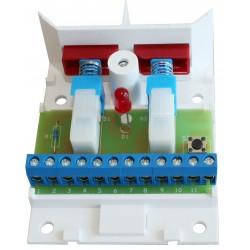 4103.02R Kopplingsbox plast Röd, 3 plint