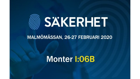 Visit us at Malmömässan, 26-27 FEB 2020