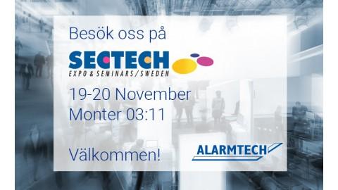 Besök oss på  SECTECH, 19-20 November, Monter 03:11
